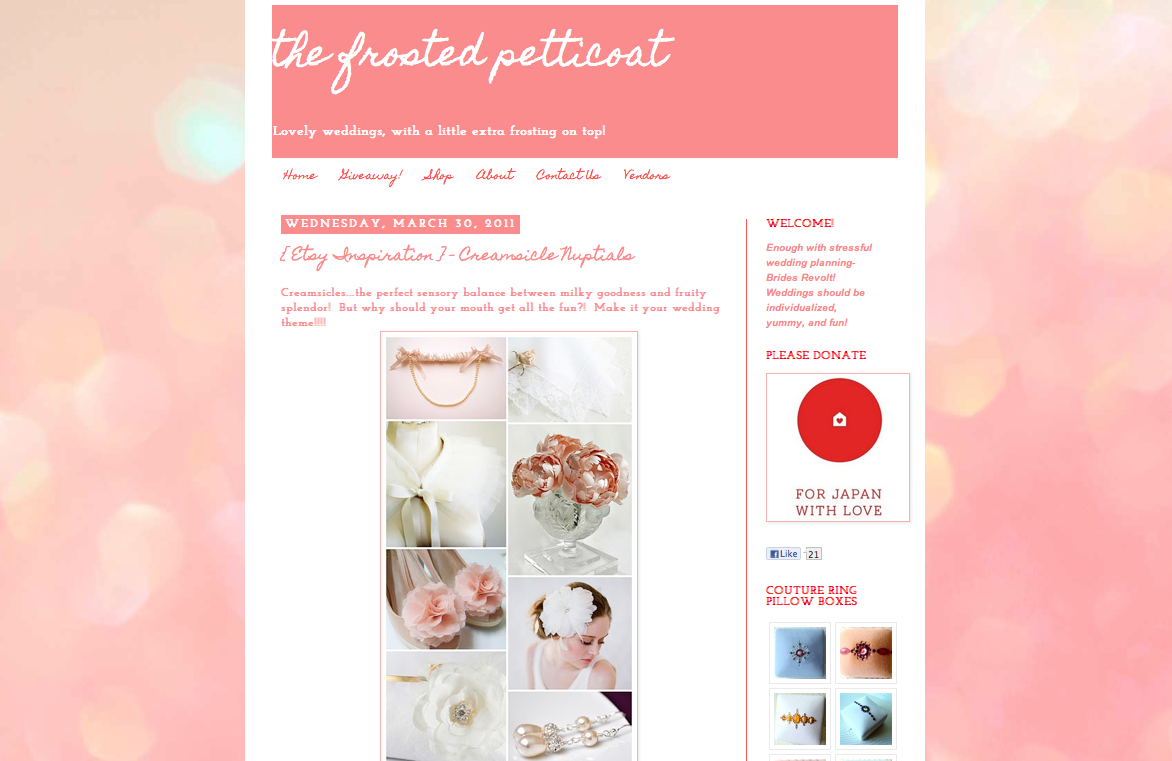 ANGEE W. Bridal Flower Clutch Bag featured on Frosted Petticoat