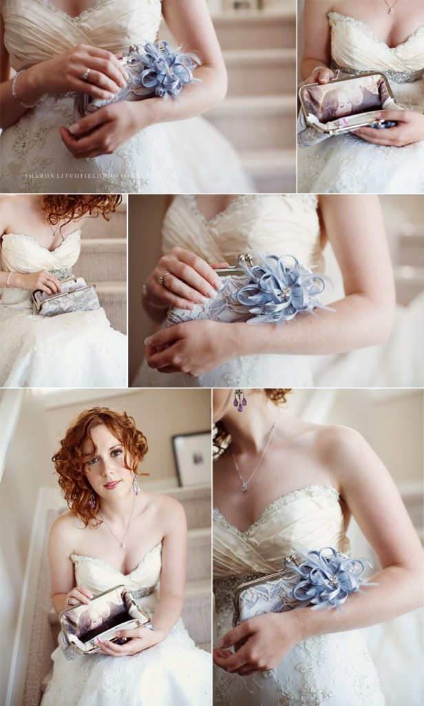 ANGEE W. bridal clutch bag by Sharon Litchfield Photography