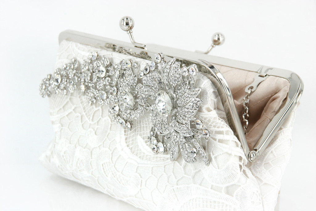Bridal U0026 Bridesmaids Lace Clutch | Wedding Accessories U0026 Bags | ANGEE W.