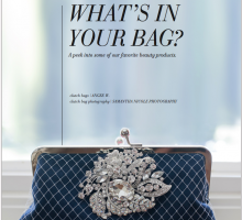 Utterly Engaged magazine featuring ANGEE W. clutch bag