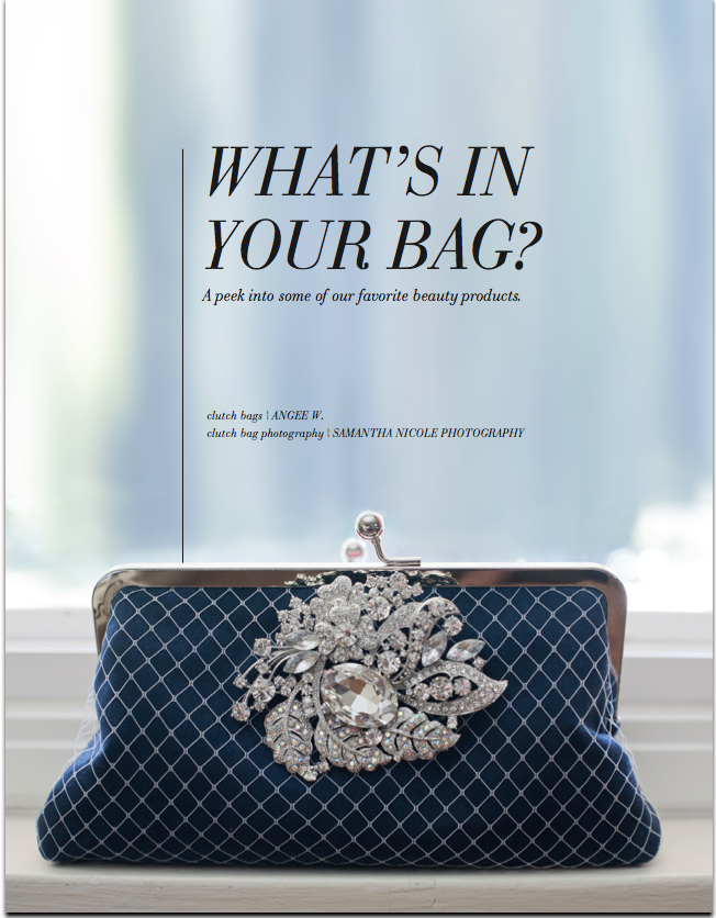 Utterly Engaged - February 2012 - ANGEE W. bridesmaids clutch bags