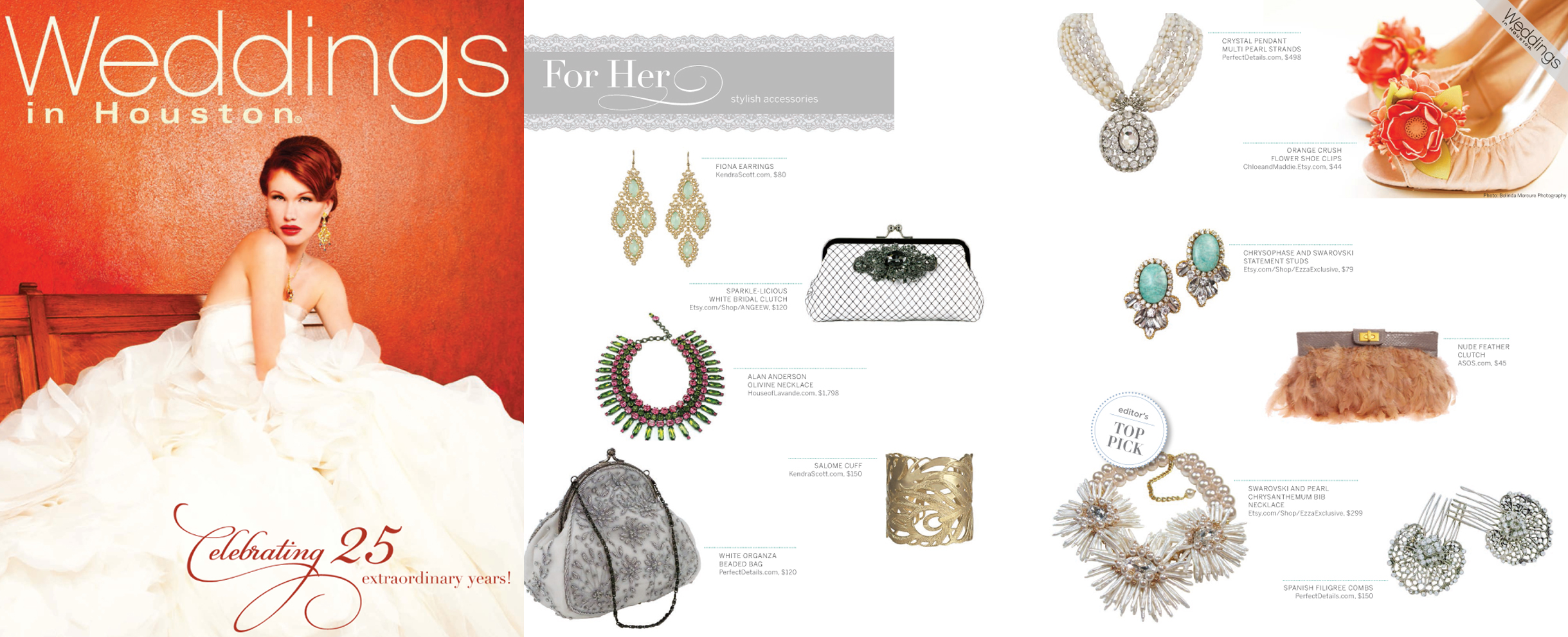 Weddings in Houston - August 2012 | ANGEE W. Clutch Bag Feature