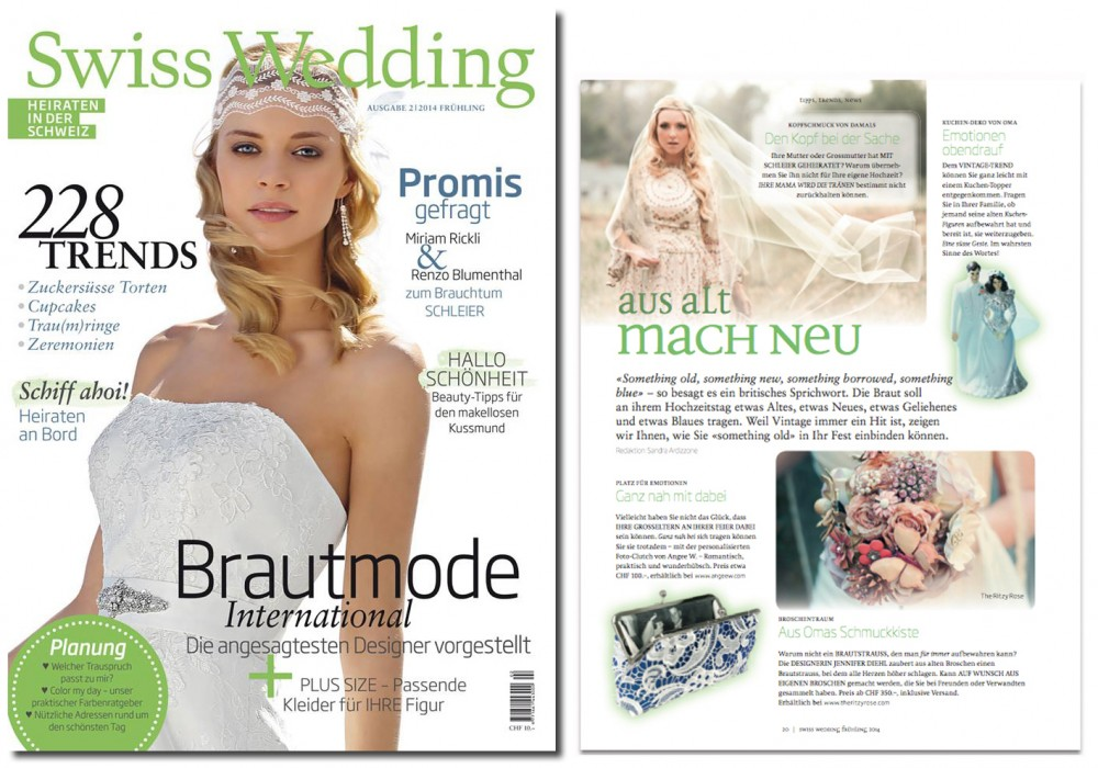 Wedding Something Old into bridal wedding accessories. Photo Clutch featured by Swiss Wedding Magazine