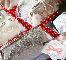 A sneak peek of ANGEE W. clutches for the 2012 Fizz &amp; Frills Bridal Fashion Show