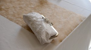 ANGEE W. Lace clutch bag By Jarkko Minni