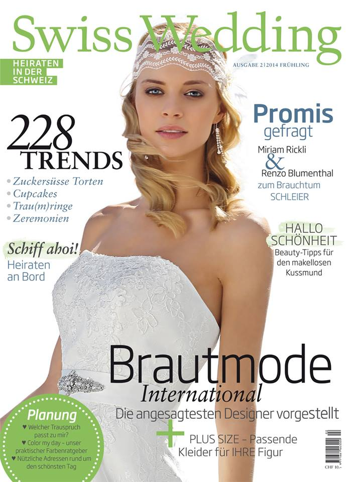 Swiss Wedding Magazine 2014 Cover