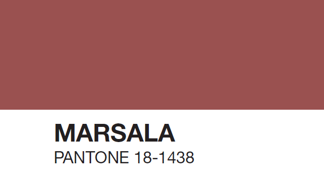 Marsala Pantone color of 2015