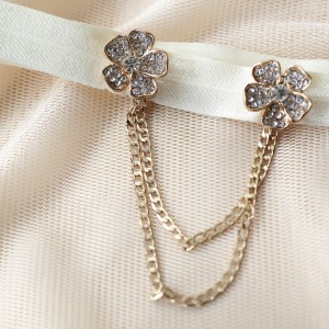 Spring Summer 2016 ANGEEW. Rose Gold Flower and Chain. Great Gatsby